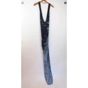 Young Fabulous & Broke tie dye thigh slit dress